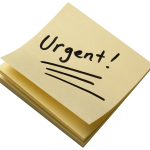 Urgent Notes Transparent Background