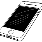 smartphone clipart PNG