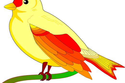 yellow bird clipart png