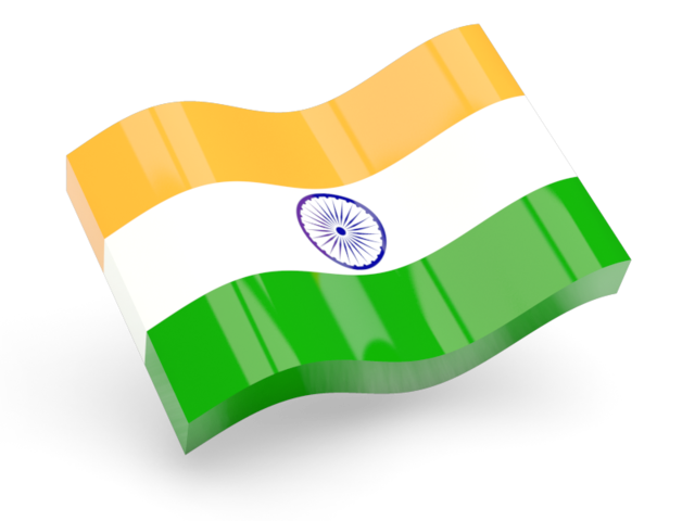India Flag Transparent PNG 3D