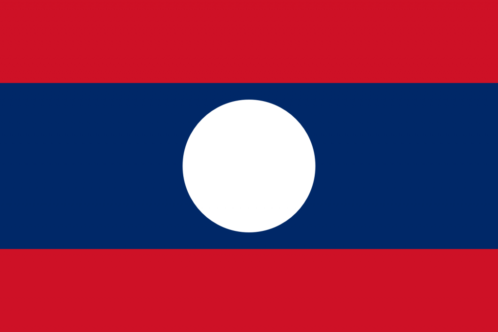 LAOS Flag PNG High Resolution